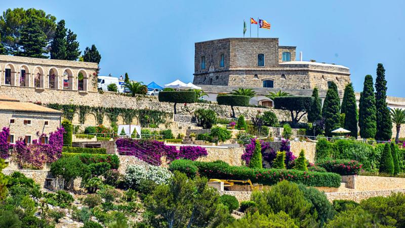 A wide shot of the villa in Mallorca where Rafael Nadal and Xisca Perello were married.