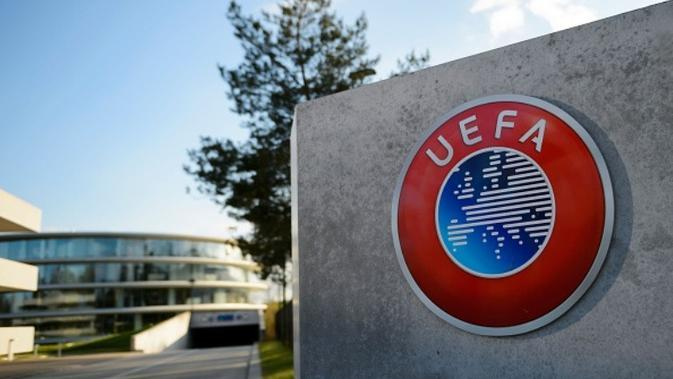 Logo UEFA. (AFP/Fabrice Coffrini)