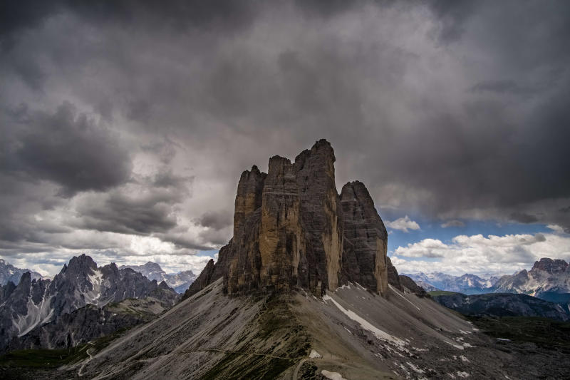Italy's Dolomite Mountains were the scene of a deadly lightning strike during a weekend ultramarathon. (Getty)