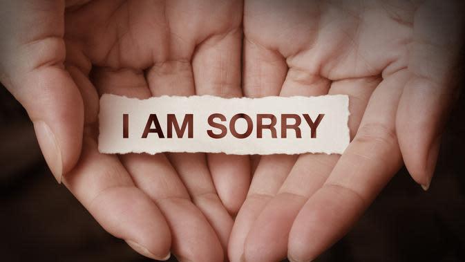 Ilustrasi I Am Sorry. / Sumber: iStockphoto