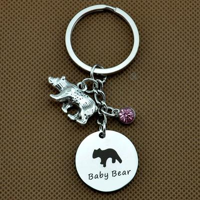 LovelyJewelry Mama and Baby Bear Charms Sweet Family Bead for Mom