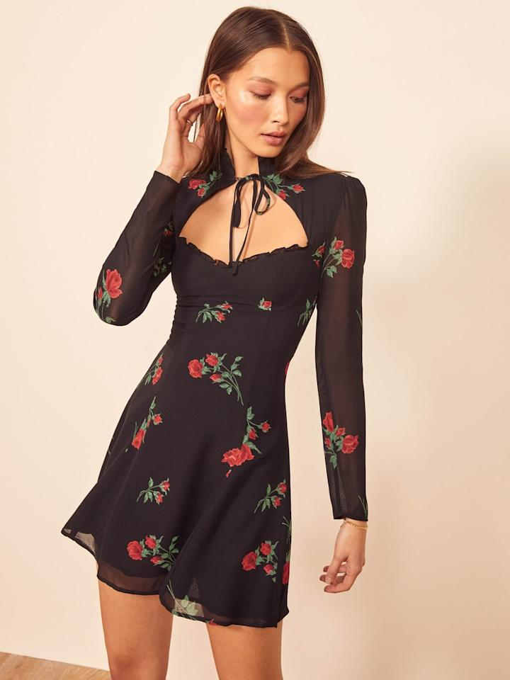 "<p>This is the piece you should have a little more fun with. A printed version, like this <a href=""https://www.popsugar.com/buy/Reformation-number-551944?p_name=Reformation%20number&retailer=thereformation.com&pid=551944&price=248&evar1=fab%3Aus&evar9=34097656&evar98=https%3A%2F%2Fwww.popsugar.com%2Ffashion%2Fphoto-gallery%2F34097656%2Fimage%2F34097659%2FCocktail-Dress&list1=shopping%2Cstyle%20how%20to%2Cclover%20canyon&prop13=mobile&pdata=1"" rel=""nofollow"" data-shoppable-link=""1"" target=""_blank"" class=""ga-track"" data-ga-category=""Related"" data-ga-label=""https://www.thereformation.com/products/vivianne-dress?color=Rochelle&amp;via=Z2lkOi8vcmVmb3JtYXRpb24td2VibGluYy9Xb3JrYXJlYTo6Q2F0YWxvZzo6Q2F0ZWdvcnkvNWFhNWQ2YmU2ZjRhYzg3NmRkODA5ZmFl"" data-ga-action=""In-Line Links"">Reformation number</a> ($248) is one you can wear for <a class=""sugar-inline-link ga-track"" title=""Latest photos and news for wedding"" href=""https://www.popsugar.com/Wedding"" target=""_blank"" data-ga-category=""Related"" data-ga-label=""https://www.popsugar.com/Wedding"" data-ga-action=""&lt;-related-&gt; Links"">wedding</a> events, on dressier date nights, and any kind of cocktail function. The key is a great, flattering fit and a wow-factor element. Special details will help distinguish this piece from the ""party dresses"" you owned in college.</p>"