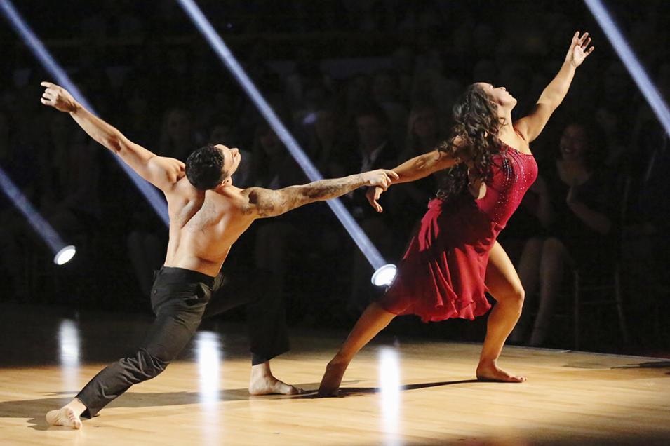 Mark Ballas  and Alexandra Raisman (4/8/13)