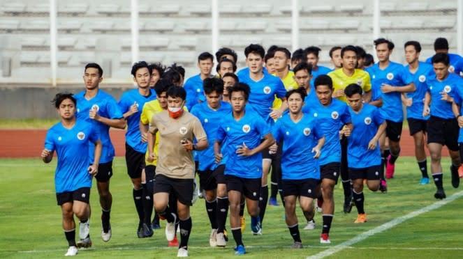 Elkan Baggott menjalani latihan bersama Timnas Indonesia U-19