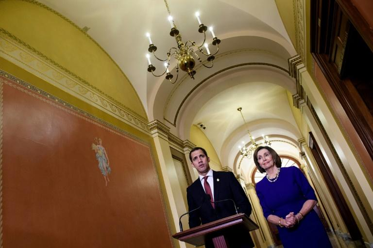 House Speaker Nancy Pelosi meets with Venezuelan opposition leader Juan Guaido at the US Capitol