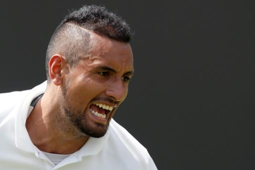 Kyrgios survives wild 5-setter at Wimbledon