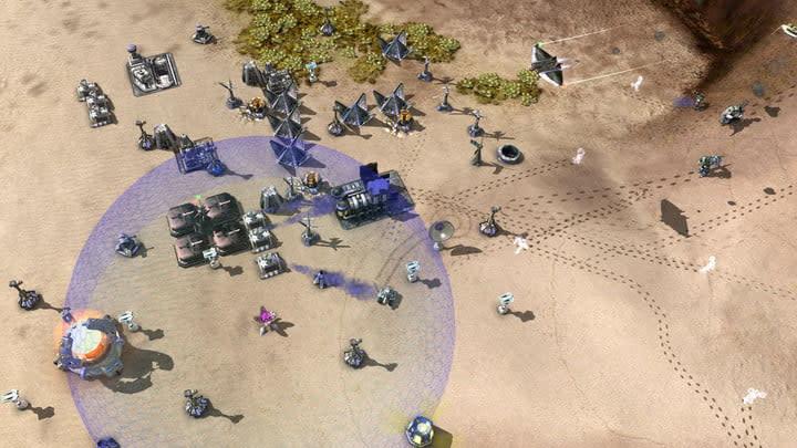 RTS gameplay from Zero-K