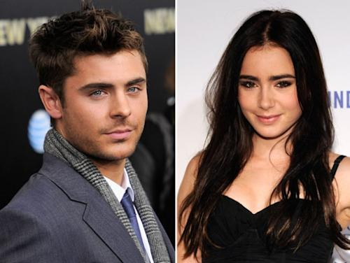 Zac Efron / Lily Collins -- Getty Images