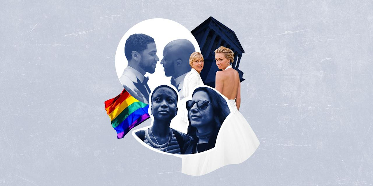 <p>While many of us recall the human rights victory of June 26, 2o15, when the U.S. Supreme Court legalized same-sex marriage in all 50 states, it's important to remember the long road to marriage equality in the United States, and worldwide.</p><p>As we looked back at iconic moments in history, to stunning celebrity real weddings, and beyond, the editors at BAZAAR Bride also contended with how little imagery of same sex weddings existed prior to the mid-'90s. </p><p>Here, we're taking a look back (and forward) on the history of same-sex weddings—in photos—and toasting all the victories before and after that joyous day in 2015, in honor of Pride Month, the anniversary of the legalization of same-sex marriage, and in celebration of love and equality. <br></p>