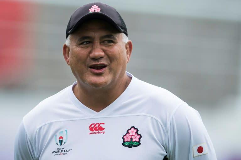 Back in black? Japan's head coach Jamie Joseph