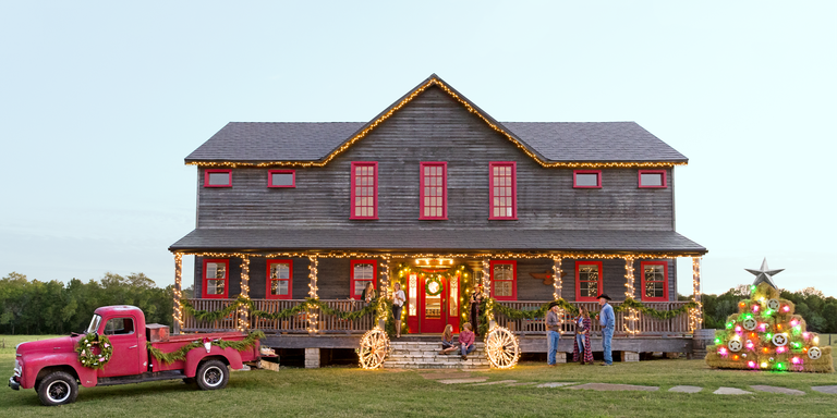 """<p>It's nearly Christmas, and odds are, you've been busy <a href=""""https://www.countryliving.com/home-design/decorating-ideas/advice/g1247/holiday-decorating-1208/"""" target=""""_blank"""">holiday decorating</a>. You've decked the halls, baked the <a href=""""https://www.countryliving.com/food-drinks/g647/holiday-cookies-1208/"""">holiday cookies</a>, and filled the stockings with <a href=""""https://www.countryliving.com/shopping/gifts/g2190/stocking-stuffers/"""">stocking stuffers</a>—what's left to do? Focus on the <a href=""""https://www.countryliving.com/home-design/decorating-ideas/tips/g1541/outdoor-christmas-decorations/"""">outdoor Christmas decorations</a>, that's what! Here, we've compiled the very best outdoor Christmas lights ideas to shop right now so you can focus on the other items on your to-do list—like grabbing the absolute perfect <a href=""""https://www.countryliving.com/shopping/gifts/g1542/christmas-gifts-for-mom/"""">Christmas gift for Mom</a>, writing a few thoughtful Christmas cards, and deciding on this year's Christmas menu. From the subtle to the extreme, we can practically guarantee there'll be something on our list that'll suit your home and style. Waterproof """"meteor shower"""" lights look a whole lot like dripping icicles when they're attached to your roof, while a realistic-looking red lantern adds a touch of rustic holiday charm to any front porch. We've also got—wait for it!—a kitschy and oh-so-wonderful set of milk cow string lights for the proud country dwellers out there who want a good laugh. Of course, you can always keep it classic with a string of white Christmas lights, a simple fir wreath, or a multicolored, retro-inspired string light set that'll please older and younger guests alike. So what are you waiting for? Let's beautify your home, Christmas-style!</p>"""