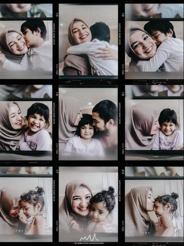 Gaya Pemotretan Virtual Keluarga Shireen Sungkar dan Teuku Wisnu. (Sumber: Instagram.com/shireensungkar)