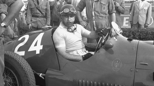 July 18: Juan Manuel Fangio drives his first Formula 1 race on this date in 1948