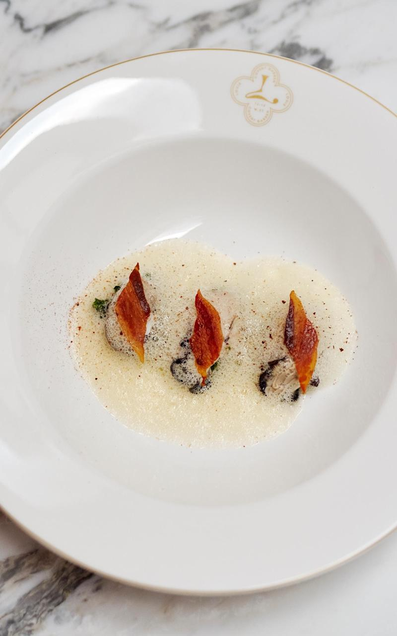 The oysters 'Rockefeller'