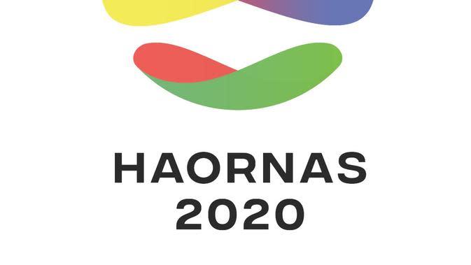 Logo Haornas terdiri dari tiga elemen dan enam warna mendukung di bentuk bola yang bundar (situs kemenpora)