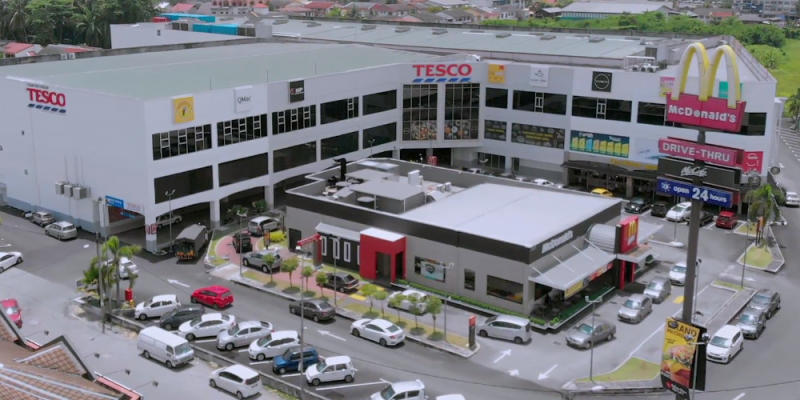 An aerial view of Tesco Teluk Intan that will be open to the public tomorrow. — Picture courtesy of Tesco Stores Malaysia Sdn Bhd