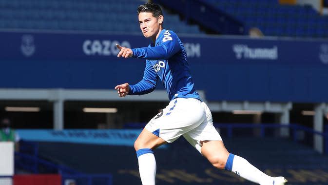 Gelandang Everton James Rodriguez. (Twitter)