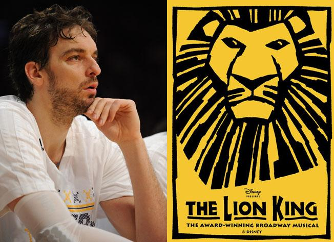 Pau Gasol incorrectly learned he'd been traded during intermission at 'The Lion King'