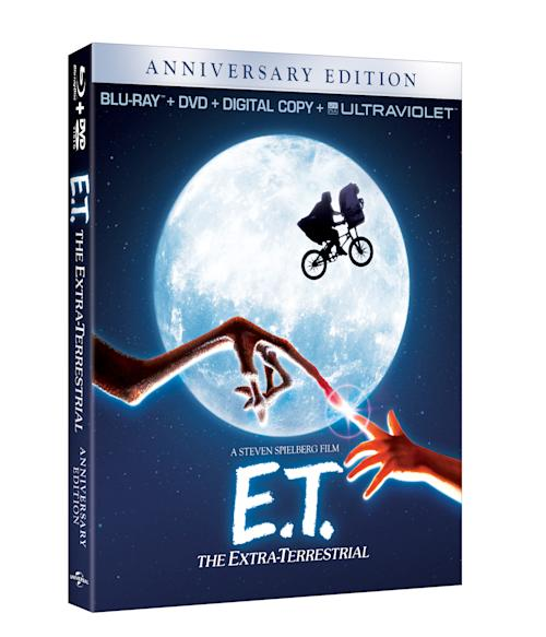"This undated publicity photo released by Universal Pictures shows the Blu-Ray 30th Anniversary Edition of director Steven Spielberg's ""E.T.: The Extra- Terrestrial"" available Oct. 9, 2012. In honor of the 30th anniversary of ""E.T.,"" a digitally remastered feature film returns to theaters Oct. 3. (AP Photo/Universal Pictures)"