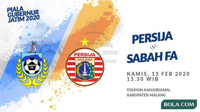 Piala Gubernur Jatim 2020: Sabah FA vs Persija Jakarta. (Bola.com/Dody Iryawan)