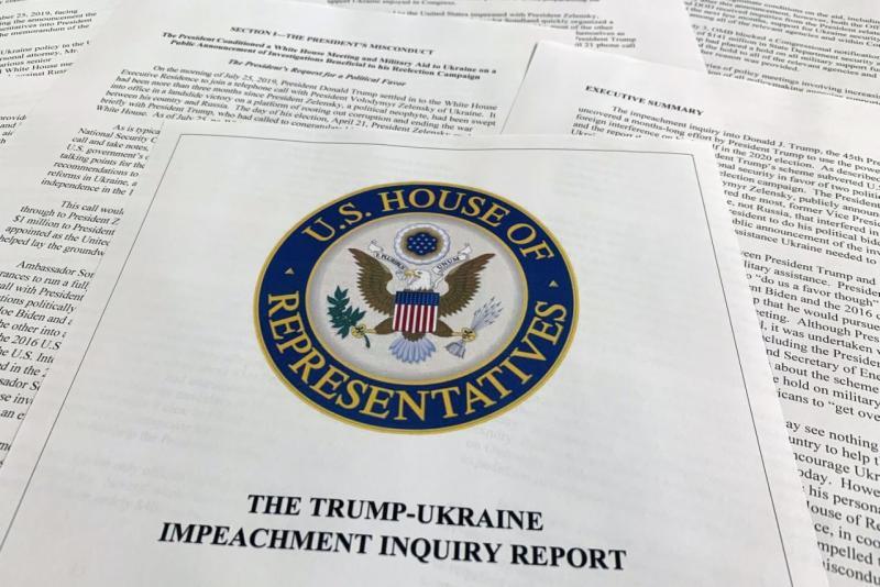 Poin-poin penting laporan DPR tentang penyelidikan pemakzulan Trump
