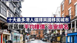英國移民城市 十大最多港人選擇英國移民城市 逐區睇平均樓價、治安排名