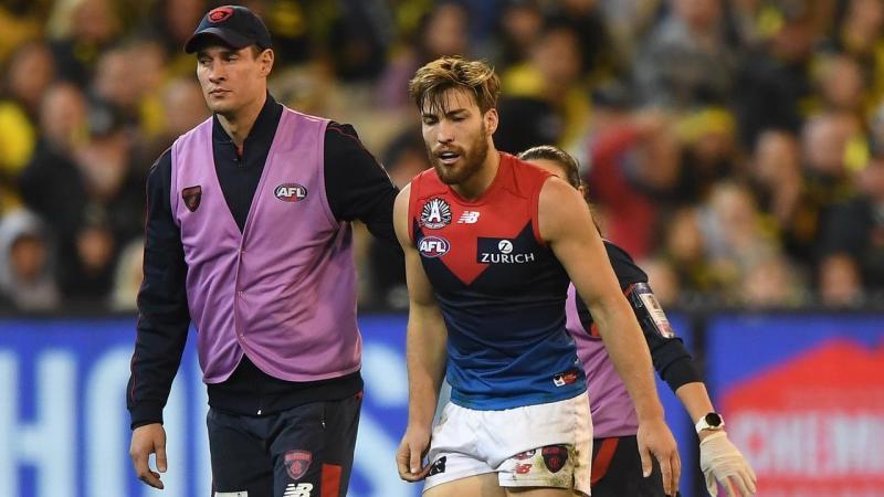 Demons AFL skipper Viney out for two weeks