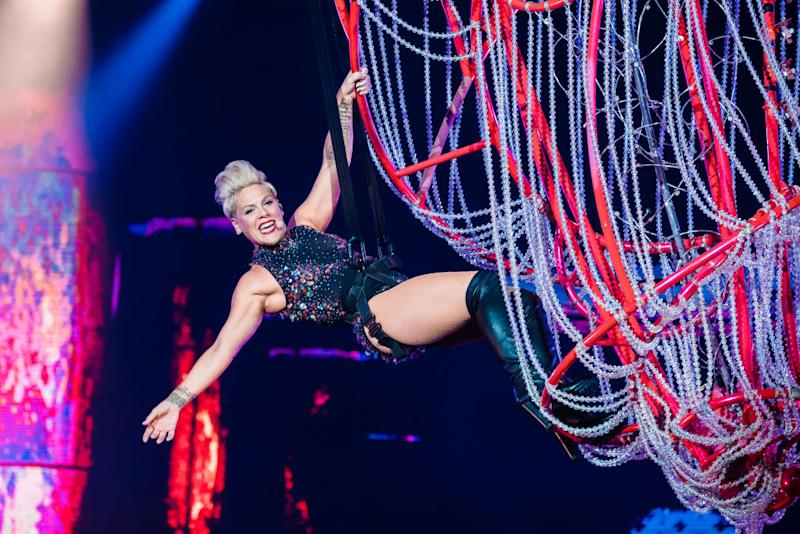 Pink during Rock in Rio 2019. Image via Getty Images.