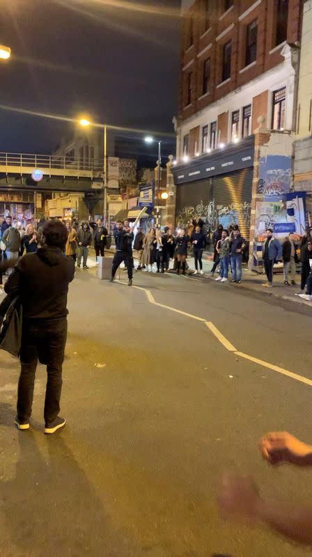 Street cricket with beer: Londoners defy COVID rules