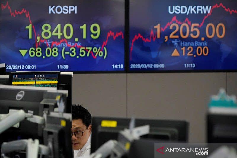 Saham Korsel terus menurun, indeks KOSPI dibuka melemah 0,38 persen