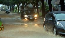 雨彈轟台東30小時 綠色隧道變黃河(1) (圖)