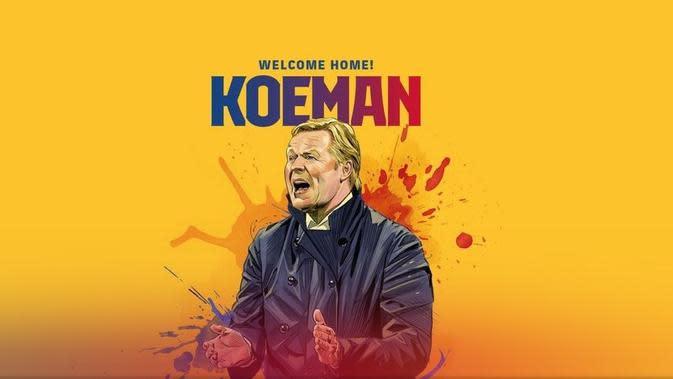 Barcelona menunjuk Ronald Koeman sebagai pelatih baru. (Dok Barcelona)