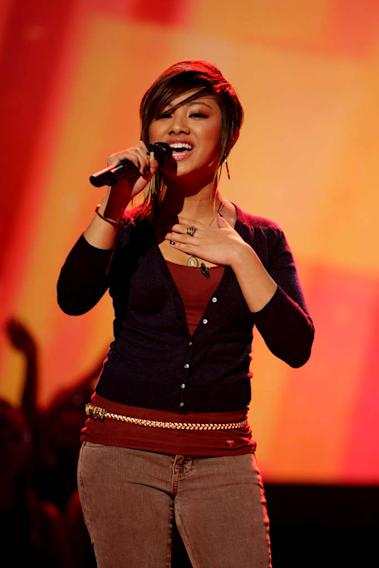 Ramiele Malubay performs as one of the top 24 contestants on the 7th season of American Idol.