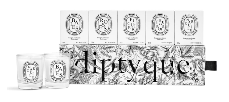 Diptyque Set of 5 Travel Size Limited Edition Scented Candles