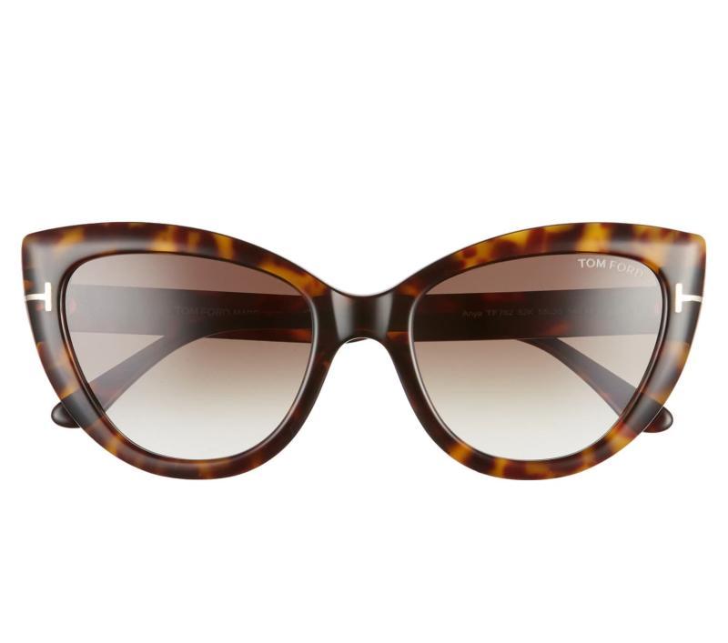 Tom Ford Anya 55mm Cat Eye Sunglasses. Image via Nordstrom.