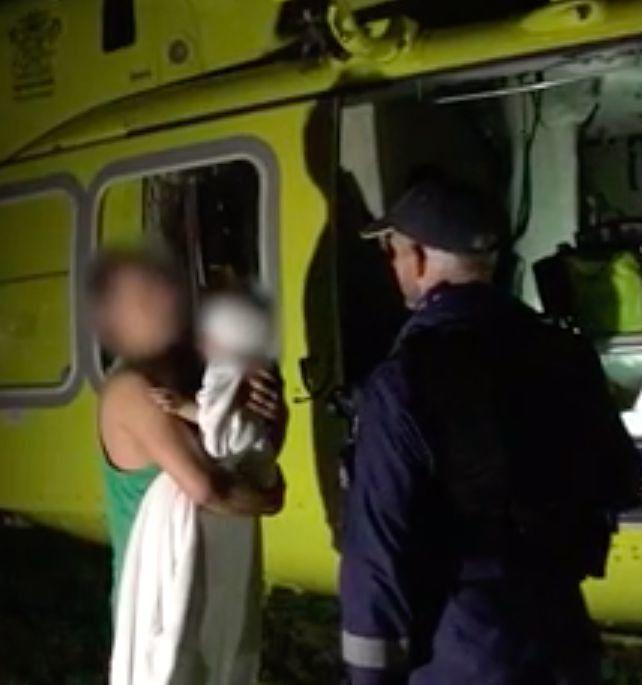 The parents have been praised for saving the boy's life. Source; RACQ LifeFlight Rescue