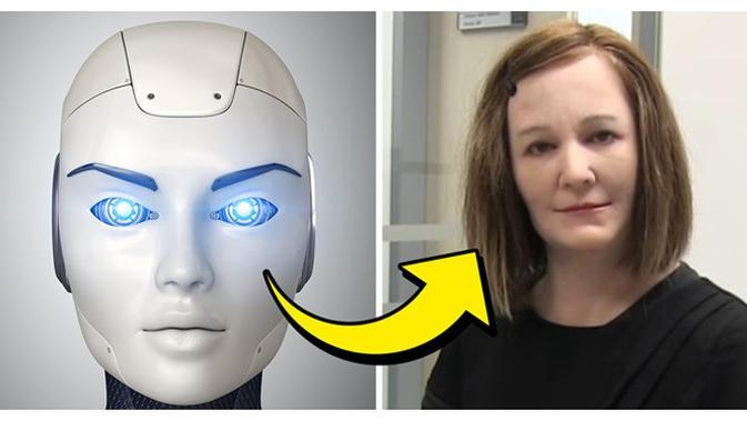 Model wajah robot (Sumber: Brightside)