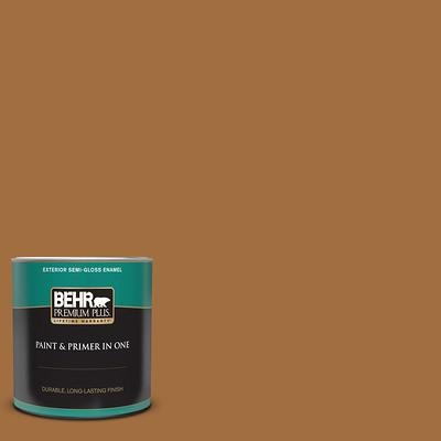 Behr Premium Plus 1 Qt Ppu24 21 Greyhound Semi Gloss Enamel Exterior Paint And Primer In One Yahoo Shopping