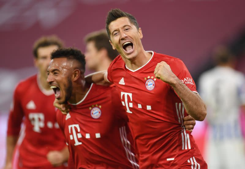 Four-star Lewandowski gives Bayern last-gasp win over Hertha