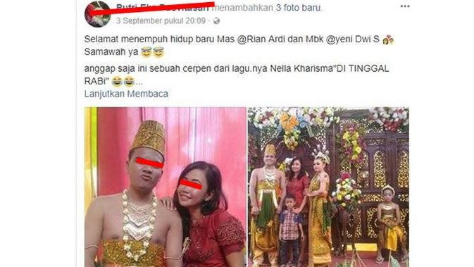5 Status Facebook Tentang Nikahan Ini Bikin Geleng Kepala (sumber:Facebook Putri Eka Pusvitasari)