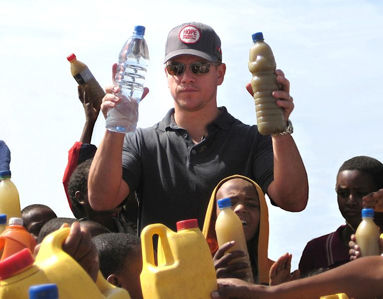 Matt Damon Visits A Well Outside Mekele, Ethiopia