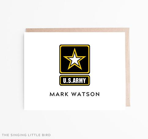 Personalized Army Note Cards Army Stationery Army Thank You Notes Army Tank Flat Notes Army Tank Stationery Tank Note Cards