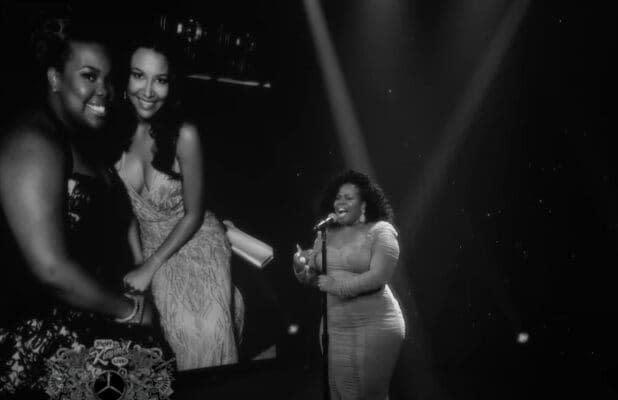 Amber Riley Sings Emotional Tribute to 'Glee' Co-Star Naya Rivera on 'Jimmy Kimmel Live!' (Video)