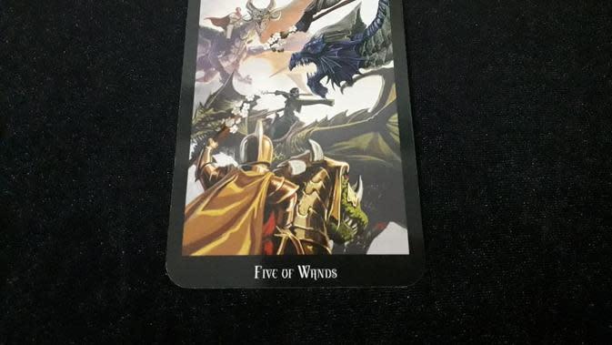 Kartu Tarot Five of Wands