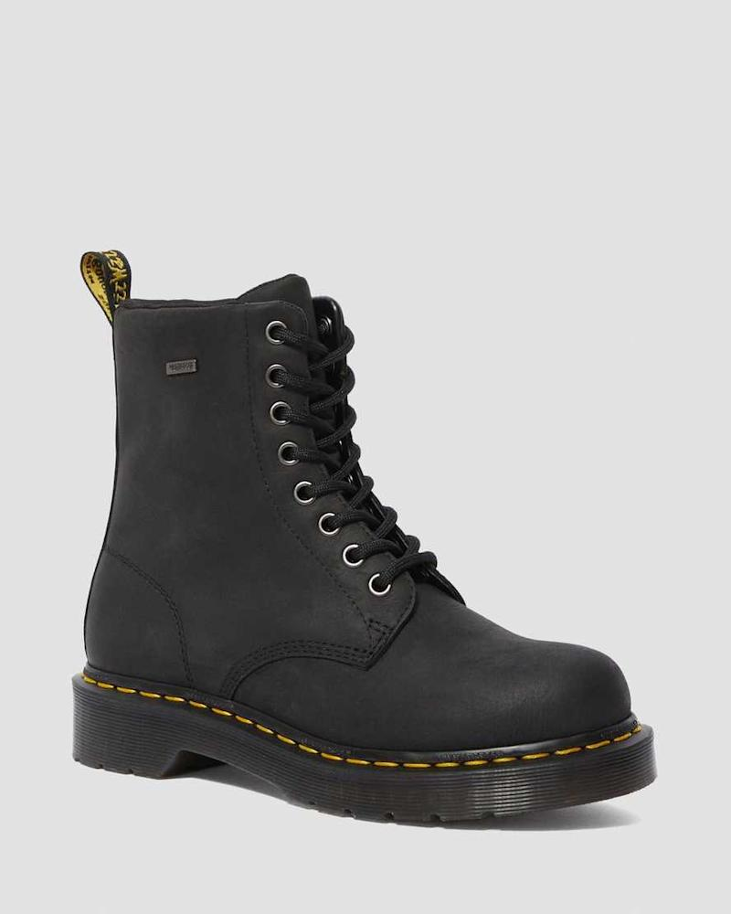 1460 Women's Waterproof Lace Up Boots. Image via Dr Martens.