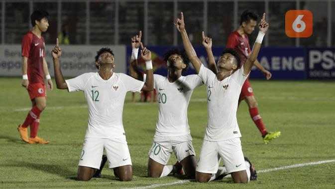 Pemain Timnas Indonesia U-19. (Bola.com/Yoppy Renato)