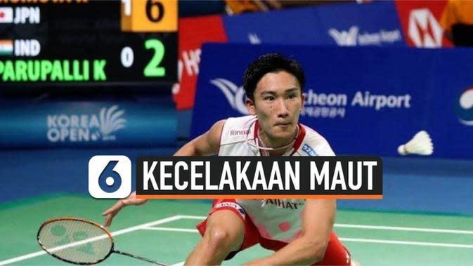 VIDEO: Kento Momota Selamat dari Kecelakaan Maut di Malaysia