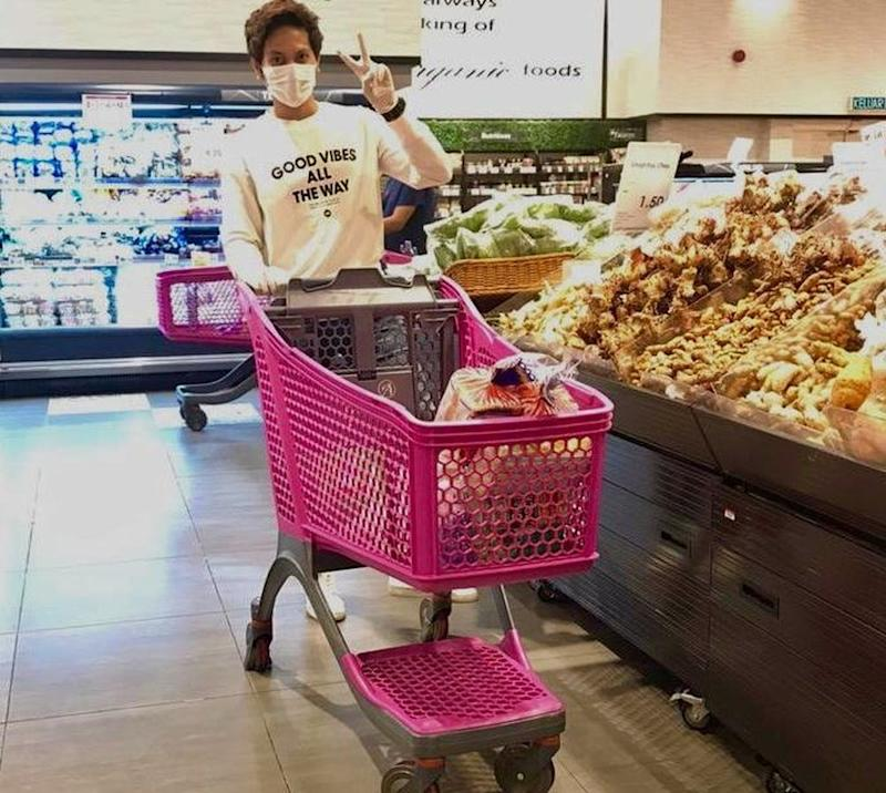 Wan Nazheem Jazan keeps a record of all the groceries ordered before purchasing them at supermarkets in Shah Alam. Picture by Wan Nazheem Jazan