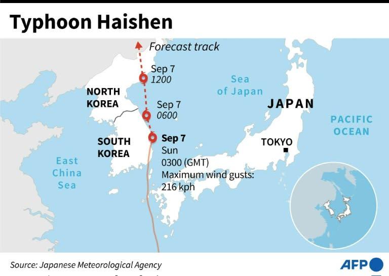 Topan hantam Korsel setelah memicu longsor di Jepang