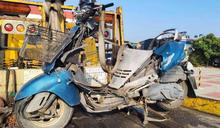 彰化濱海路開通首件死亡車禍!7旬婦騎車對撞大貨車不治
